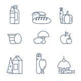 Livsmedelsprodukter från lagret Royaltyfri Bild