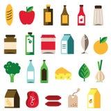 Livsmedelsymbol stock illustrationer
