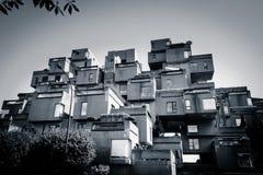 Livsmiljö 67 - minimalist modernism i Montreal Fotografering för Bildbyråer