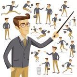 Livsstil för män för uppsättning för vektor för plan rengöringsduk för folksymbolslägen infographic Royaltyfria Bilder