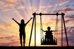 Livsstil och service för rörelsehindrade barn royaltyfri bild