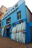 Livsstil Surfshop Arkivfoto