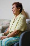 livsstilpensionärkvinna Fotografering för Bildbyråer