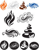 livstid för element fyra royaltyfri illustrationer