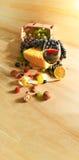 livstid för ingredienser för sädes- skörd för bakgrundsbröd sund fortfarande Arkivfoto
