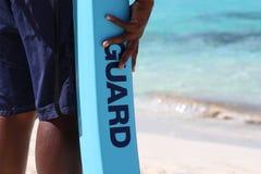 livstid för strandarbetsuppgiftguard royaltyfri bild