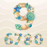 livstid numrerar havsvektorn vektor illustrationer