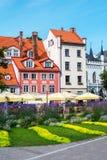 Livu ajustent, vieille ville de Riga, Lettonie Image libre de droits