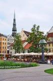 Livu Laukums square, Old Riga Stock Image