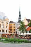 Livu Laukums square, Old Riga Stock Photography