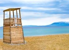 Livvakt Tower på stranden Royaltyfri Foto