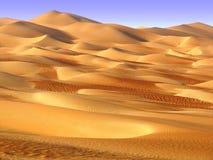 Liwa沙漠,中东 免版税图库摄影