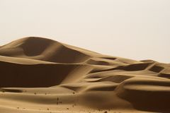 Liwa Desert in Abu Dhabi Stock Image