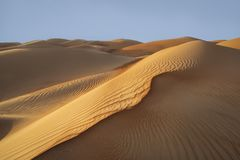 Liwa desert, part of Empty Quarter, the largest co stock image