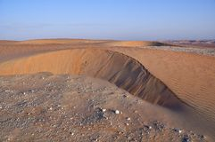 Liwa sand slip Royalty Free Stock Photos