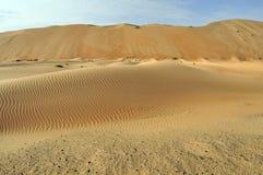 Liwa sanddyn & krusningar Arkivbilder