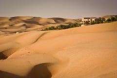 Liwa sander, nära Abu Dhabi Arkivfoto