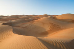 Liwa-Wüste in Abu Dhabi Stockbilder