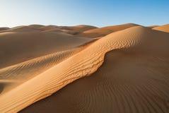 Liwa-Wüste in Abu Dhabi Lizenzfreie Stockbilder