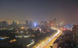 Liwan lake park night cityscape China Stock Images