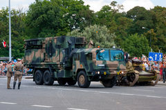 LIWIEC - Radar de soutien d'artillerie Photos stock