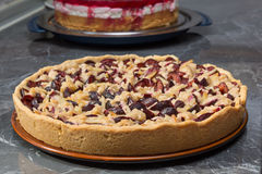 Śliwka tort Zdjęcia Stock