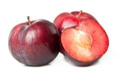 Śliwki czerwona owoc Zdjęcia Stock