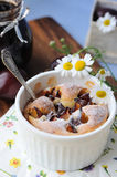 śliwkowy clafoutis pudding Zdjęcia Royalty Free