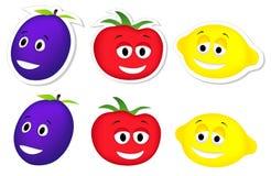 śliwkowy cytryna pomidor ilustracja wektor