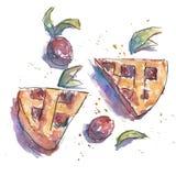 Śliwkowy kulebiak Obraz Royalty Free