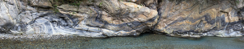 Liwu River in Taroko Gorge, Taiwan. Liwu River in Taroko Gorge, with its abundant marble stone supply (large stitched file), Taiwan Stock Images
