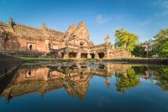 Lixe o castelo de pedra, phanomrung na província de Buriram, Tailândia Fotos de Stock