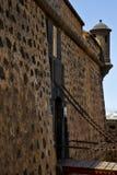 Lixe o castillo de arrecife lanzarote a torre velha do castelo da parede Imagens de Stock Royalty Free