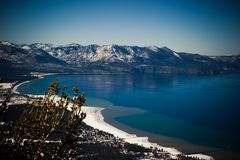 Lixe o porto durante o inverno, Lake Tahoe, EUA Fotografia de Stock Royalty Free