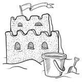 Lixe o vetor do castelo Fotos de Stock