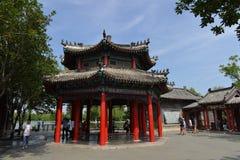 Lixia paviljong i Daming Lake i Jinan arkivbilder
