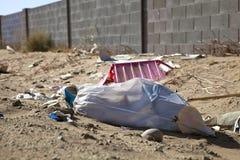 Lixo da borda da estrada Imagem de Stock