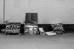 Lixo da cidade Fotografia de Stock