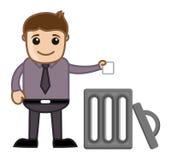 Lixo de jogo do homem no lixo Imagens de Stock Royalty Free
