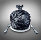 Lixo do alimento ilustração royalty free