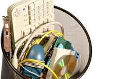 Lixo do computador fotografia de stock royalty free
