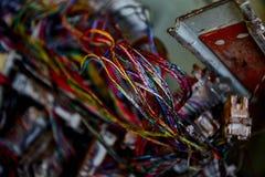 Lixo do desperdício da eletrônica foto de stock
