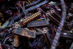 Lixo do desperdício da eletrônica fotos de stock