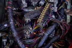 Lixo do desperdício da eletrônica fotografia de stock