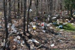 Lixo do saco de plástico Fotos de Stock Royalty Free