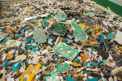 Lixo dos circuitos eletrônicos fotografia de stock royalty free