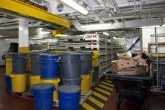Lixo dos navios Foto de Stock Royalty Free