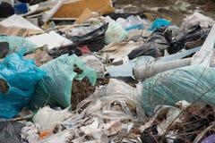 Lixo na operação de descarga Imagem de Stock