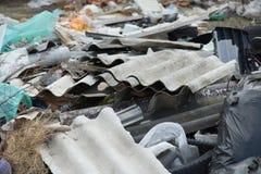 Lixo na operação de descarga Fotos de Stock