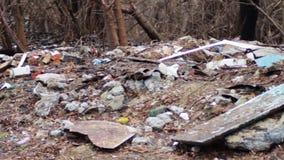 Lixo na rua vídeos de arquivo